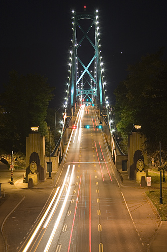 Lions Gate Bridge from Stanley Park.