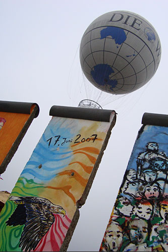 Sections of the Berlin Wall.