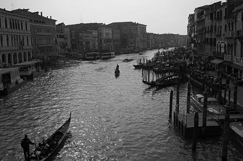 Traffic in Venice.